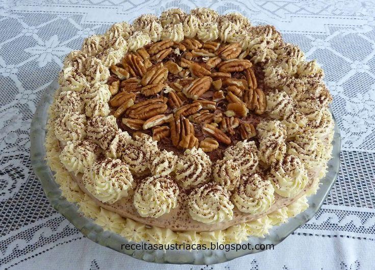 RECEITAS AUSTRÍACAS E ALEMÃS - DOCES: TORTA DE CAFÉ IRLANDESA – Irish Coffee Torte