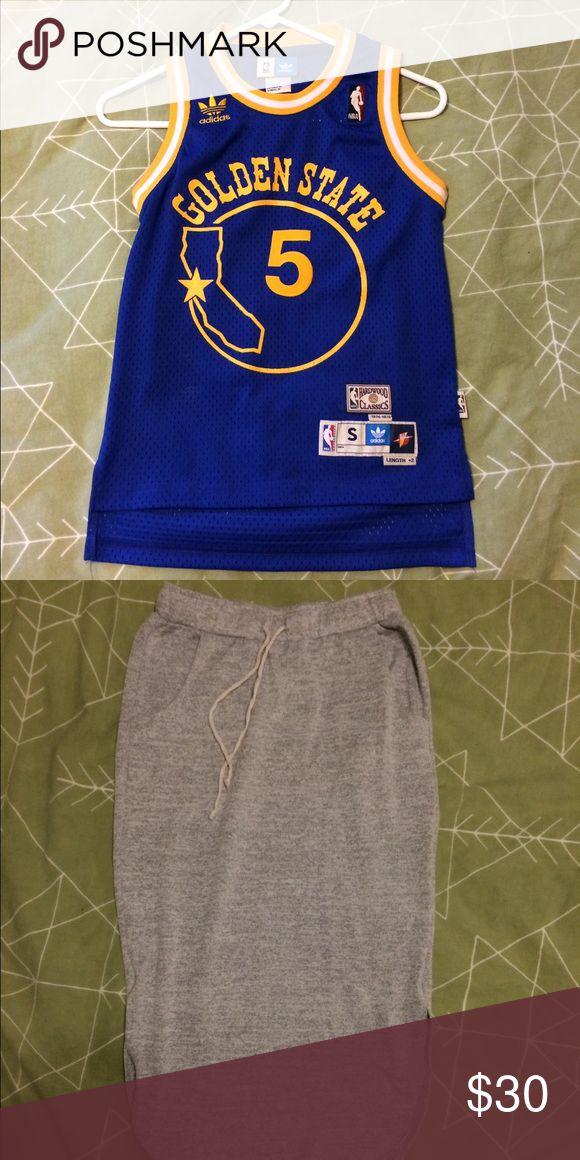 Bundle! Baron Davis Jersey and Terry Cloth Skirt Reebok Shirts & Tops Tees - Short Sleeve