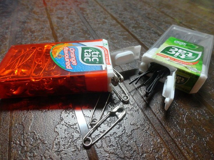 Use TicTac containers to store bobby pins. Simply put bobby pins ...