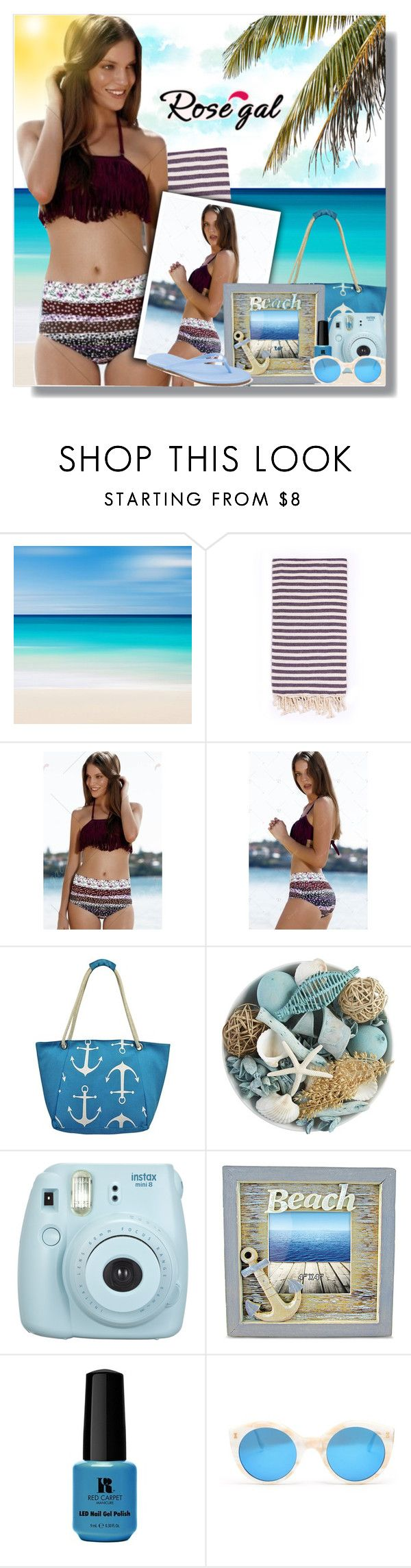 """""""Win $20 Cash from Rosegal!"""" by nadilaamaaliaa ❤ liked on Polyvore featuring Turkish-T, Pier 1 Imports, Fuji, Red Carpet Manicure, Illesteva, LC Lauren Conrad, fringe, beach and rosegal"""
