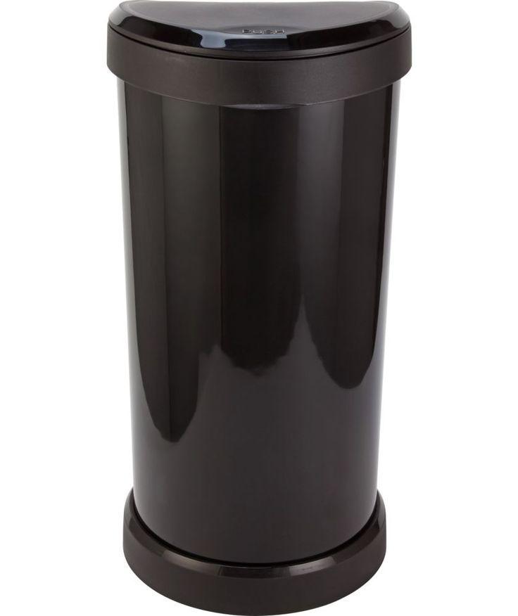 Buy Curver 40 Litre Deco Touch Top Kitchen Bin - Black at Argos.co.uk - Your Online Shop for Kitchen bins.