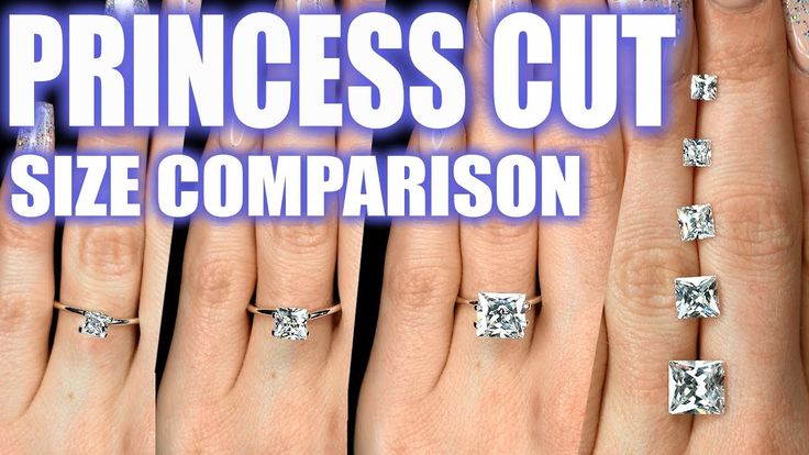 Pin on Diamond Size Comparison on Hand & Finger