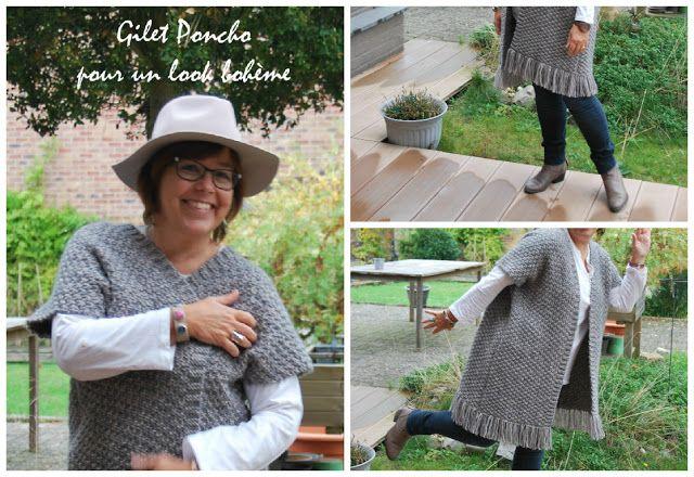 Les petites valises: Gilet Poncho pour un look bohème