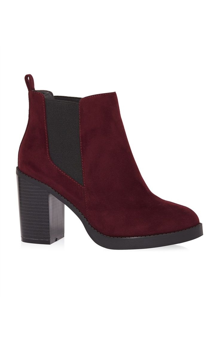Primark Deep Red Suede Heel Chelsea Boot- I bought these and the grey ones and love them so much