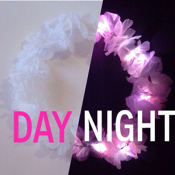 LED Flower Crown / ANY 1 COLOR Light Up Headband by HippyHeadBandz, $20.00