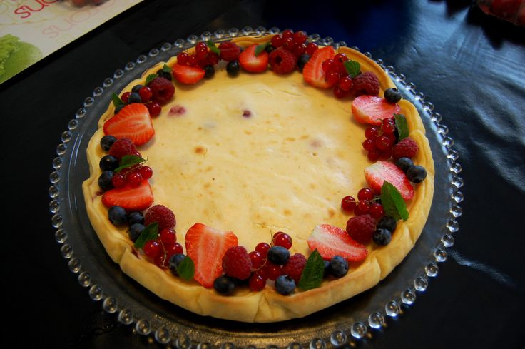 cheesecake fruits rouge