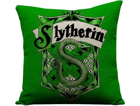 harry potter Slytherin harry potter pillow by GEEKandtheCHIC, $24.00