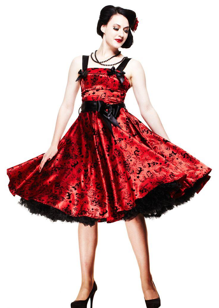 rockabilly plus size dress uk