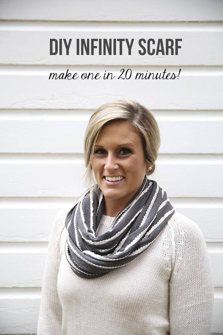 DIY infinity scarf ...make one in 20 minutes! #DIY #sewing