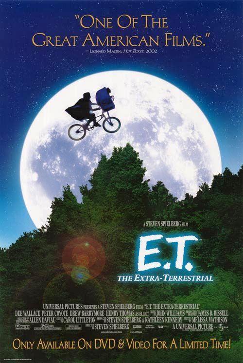 E.T. The Extra-Terrestrial Movie Poster 27x40 Used Rare (1982) Steven Spielberg, Jean-Paul Hellendall, Anne Lockhart, Sean Frye, Milt Kogan, Drew Barrymore, Erika Eleniak, C Thomas Howell, Henry Thomas, Mary Stein, Robert MacNaughton, KC Martel