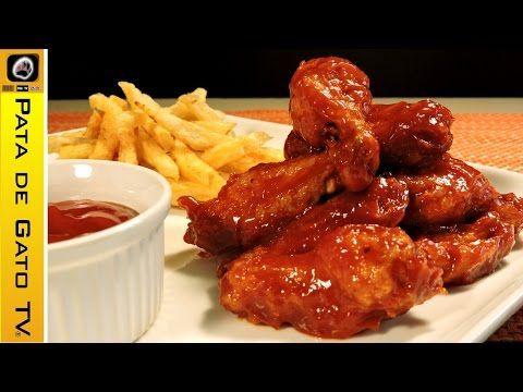 Alitas a la Barbecue ¡fácil! / Easy BBQ chicken wings. - YouTube