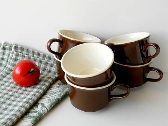Restaurant Ware Coffee Cups. Brown Tea Cups. Kitchen Decor.