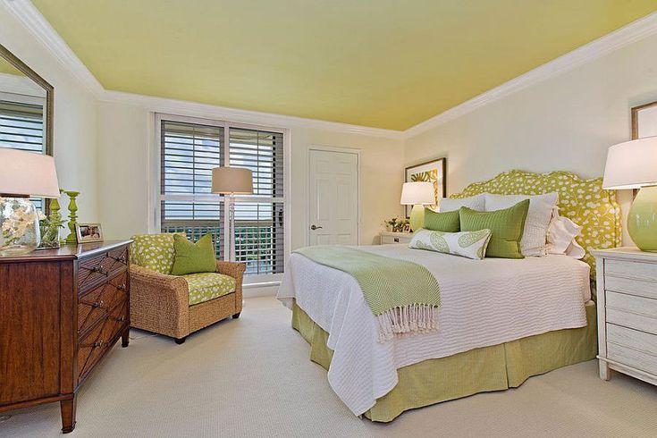 Camera da letto nelle tonalità del verde n.22