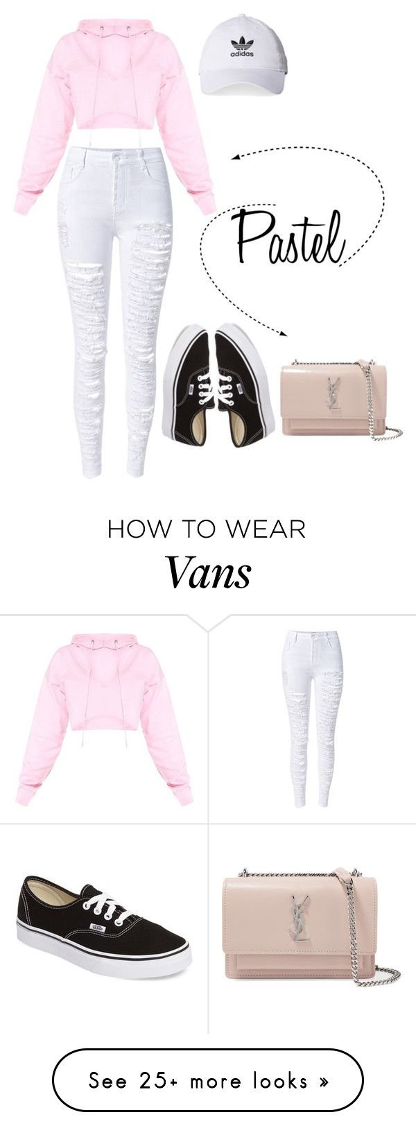 """""""Untitled #101"""" by kb1934733 on Polyvore featuring Vans, WithChic, Yves Saint Laurent and adidas"""