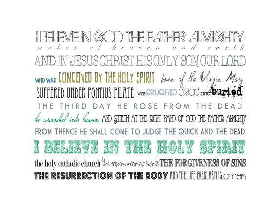 apostles creed printable - Google Search