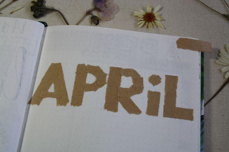 Bullet journal #3 - Apri