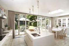 bifold doors interior kitchen - Google Search