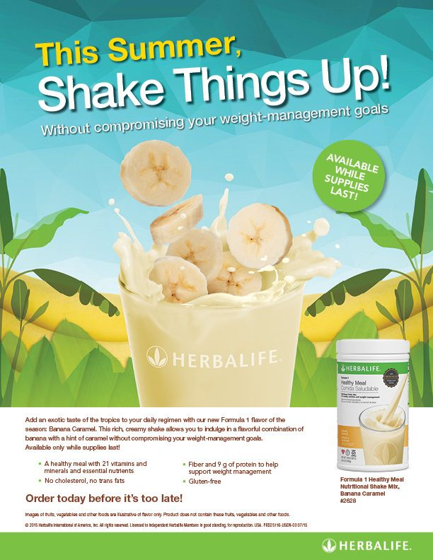 Limited time - Banana Caramel ️healthy meal! Order today at www.GoHerbalife.com/shopnutrition