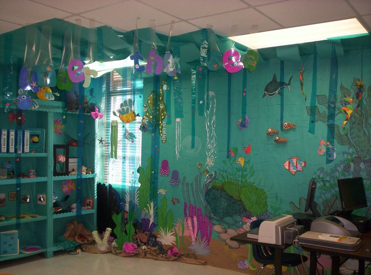 "You have to go to the MCSD Resource Center.  Esther Powell has made it a ""teacher wonderland"".  Don't miss -  Under the sea classroom theme"