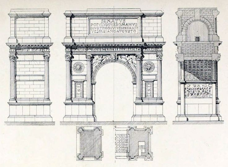 arches drawing section - Google Search | colonnade ...