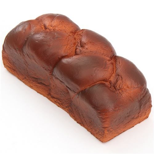 big dark brown chocolate English bread loaf scented squishy by iBloom 1