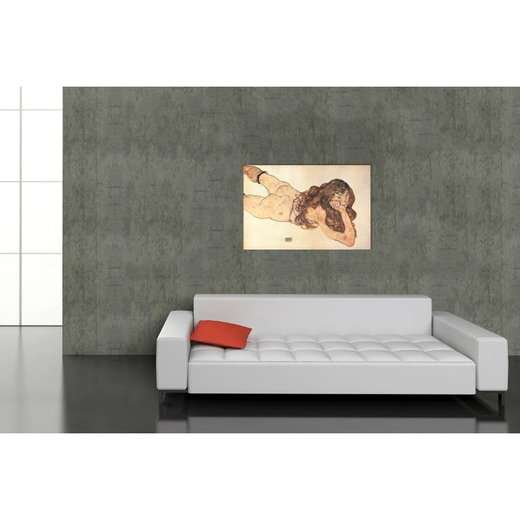 SCHIELE - AM BAUCH LIEGENDER WEIBLICHER AKT 1917 #artprints #interior #design #art #print #iloveart #followart  Scopri Descrizione e Prezzo http://www.artopweb.com/EC17602