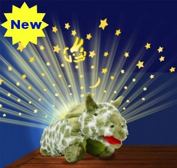 Dream Lites Green Dinosaur - One of the new Dream Lites to hit the UK from the makers of Pillow Pets