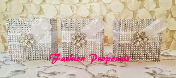 Wedding Bling centerpiece set of 3 Bouquet by FashionProposals