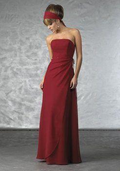 robe rouge bustier de demoiselle d'honneur