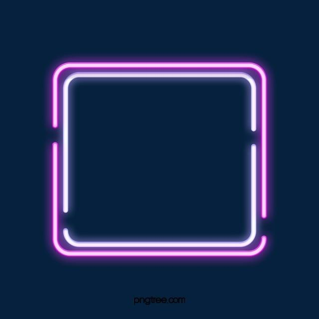 Double Deck Disconnected Square Neon Effect Geometric Border Border Clipart Border Light Png Transparent Clipart Image And Psd File For Free Download Neon Png Simple Phone Wallpapers Neon Box