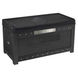 H D® Harley Davidson B S Flames Storage Bench W Vintage Black Finish | eBay