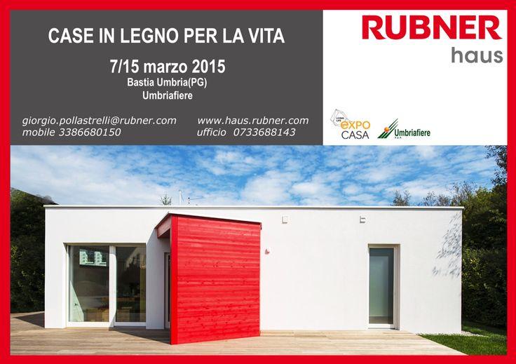 Dal 7 al 15 marzo 2015 venite a visitarci presso la fiera EXPO a Bastia Umbra giorgio.pollastrelli@rubner.com