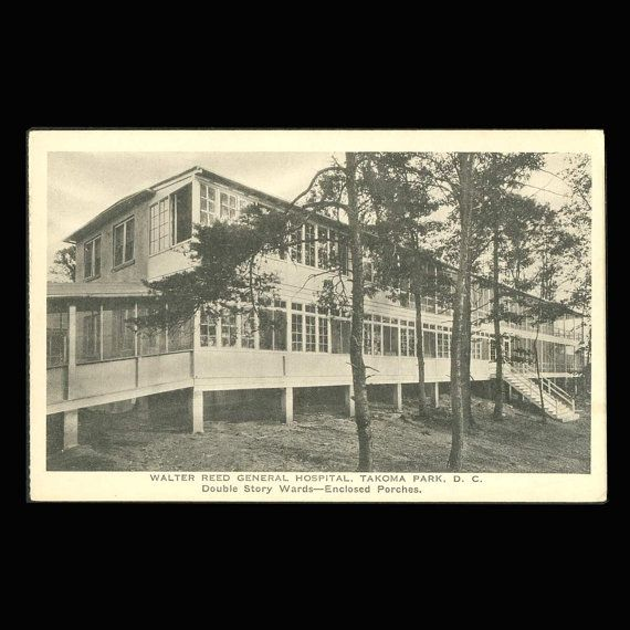 Walter Reed General Hospital Double Story Wards USA by COINSnCARDS