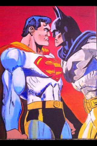 MANDÍF ART.: Superman vs Batman. Acrílico. Disponible.