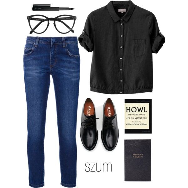 68 by szum on Polyvore featuring Margaret Howell, Pierre Balmain, Brixton, Selima Optique, MAC Cosmetics and Smythson