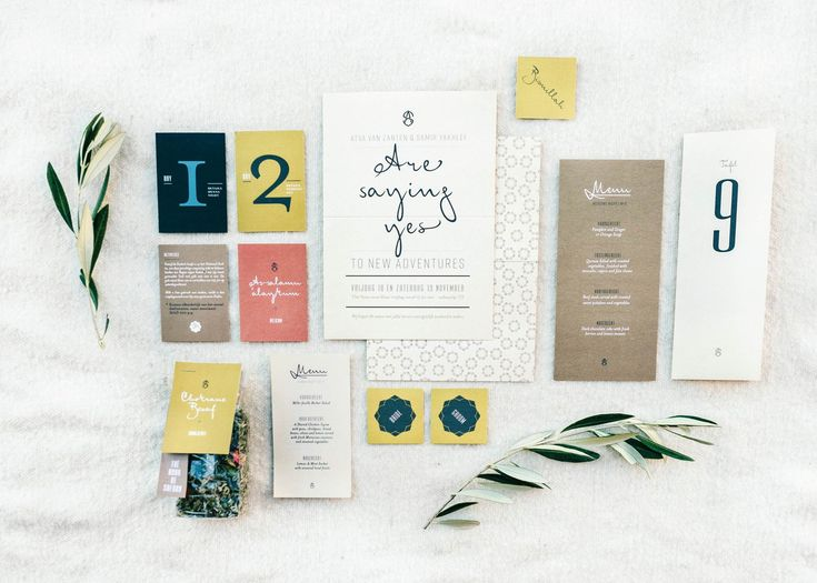 Stationery set for adventurous couples | Destination wedding Ourika Morocco