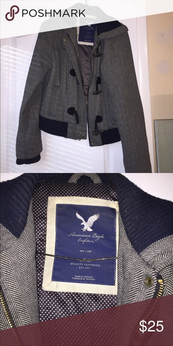 American Eagle jacket One of my favorite jackets!! Great for fall and winter. Gently used. Offers welcomed! American Eagle Outfitters Jackets & Coats