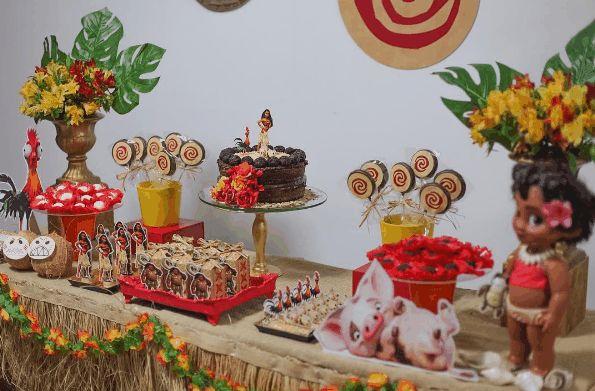 aniversário festa moana