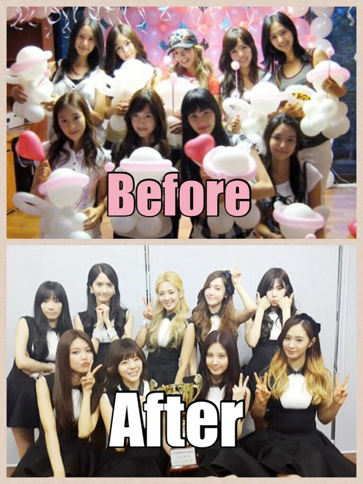 Girls Generation Before And After Pic Collage