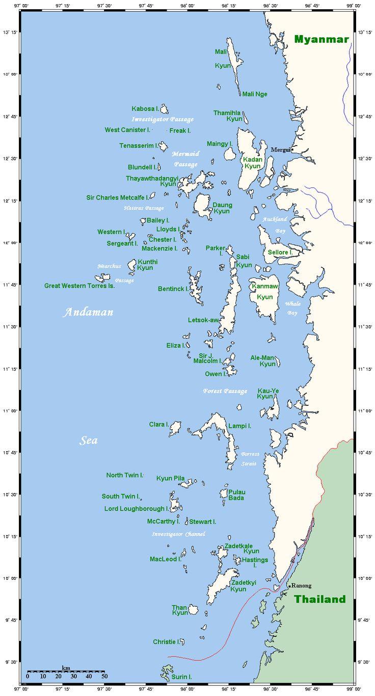 The Mergui Archipelago in Burma (Myanmar)