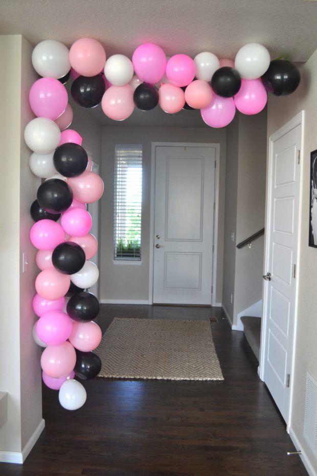 Best 25 balloon arch ideas on pinterest balloon for Balloon decoration ideas without helium