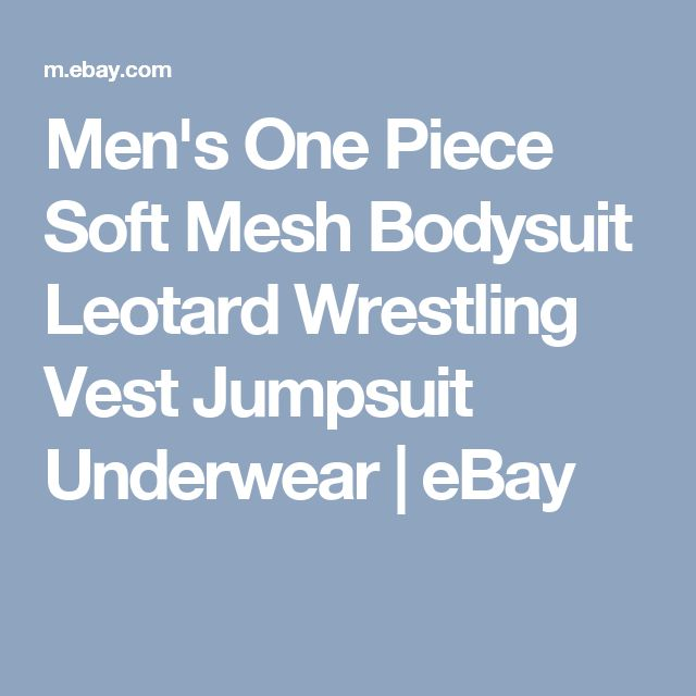 Men's One Piece Soft Mesh Bodysuit Leotard Wrestling Vest Jumpsuit Underwear | eBay