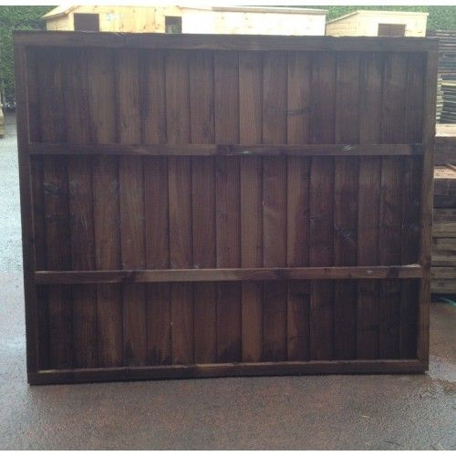 Tanatone Vertilap  / Closeboard Fence Panel Fully Framed