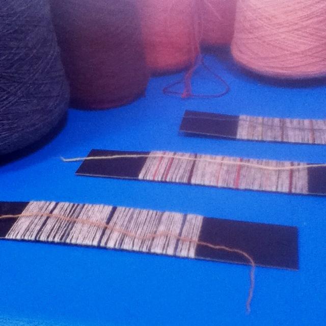 scarf designing at Ardalanish Weavers