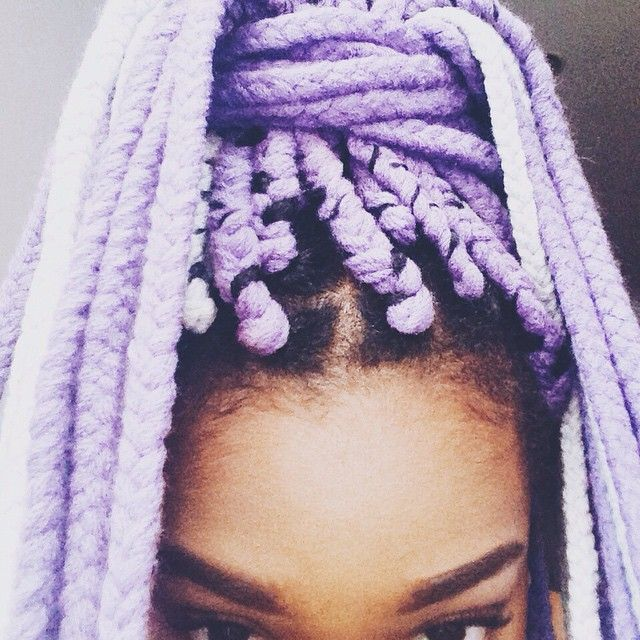 16 Stunning Photos of Colored Box Braids, the Summer Protective Style Trend…