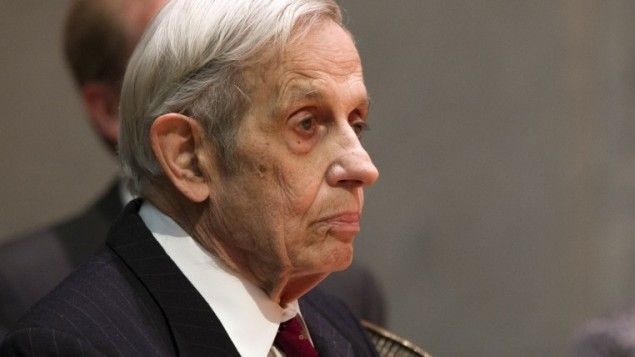 This picture taken on May 19, 2015 at the Abel Prize ceremony in Oslo shows the Abel prize winner and mathematician John Forbes Nash. Nash and his wife both died on May 23 in a car crash in the US. (Haakon Mosvold Larsen/AFP)