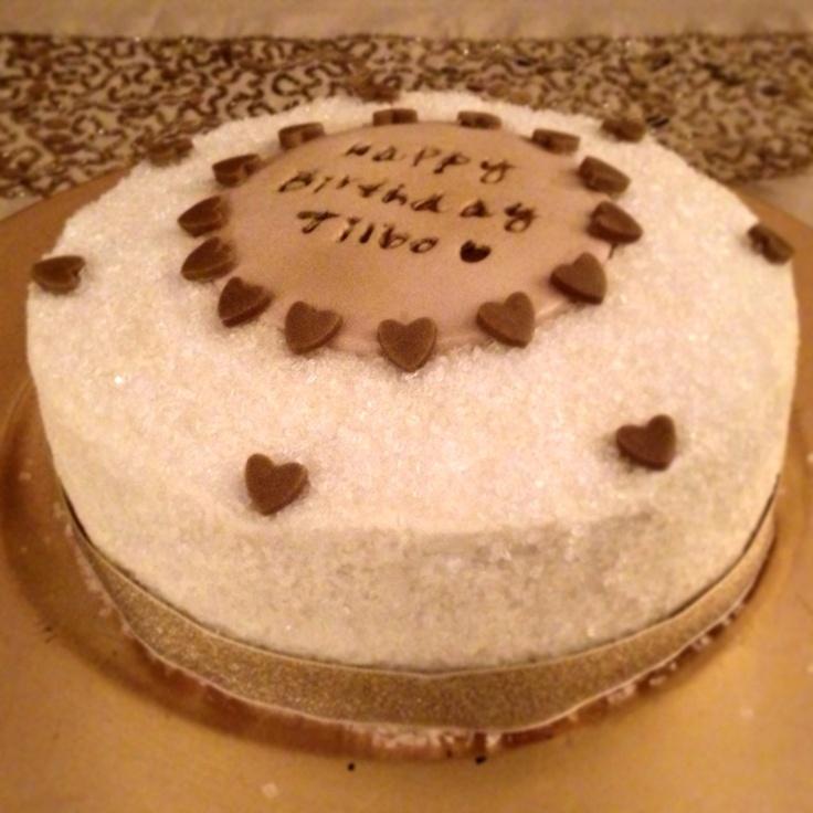 Sparkle buttercream birthday cake