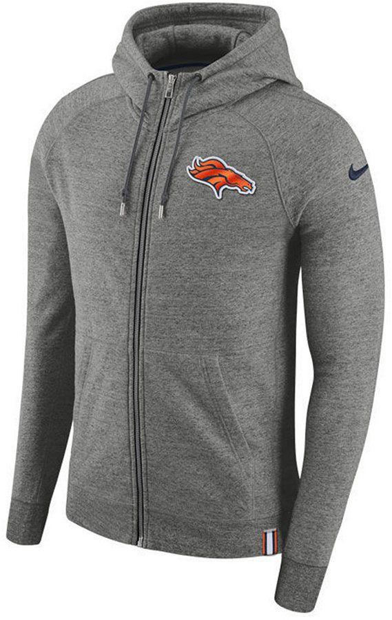 Nike Men's Denver Broncos Full-Zip Hoodie