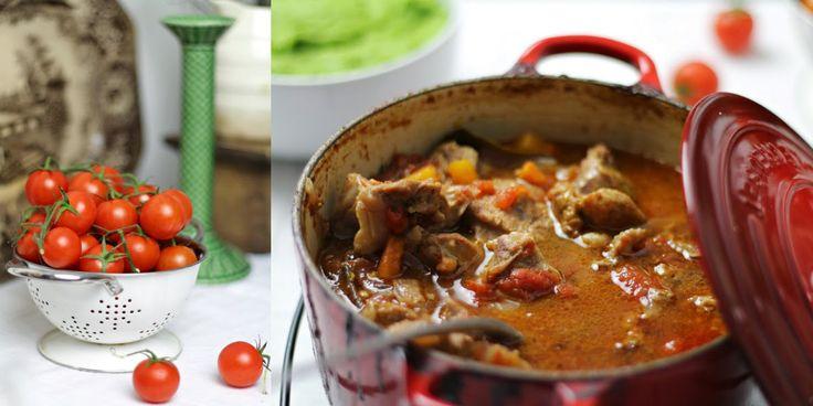 Hoje para jantar ...: Chambão estufado no forno com puré de ervilhas