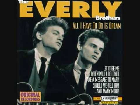 Today 3-6 in 1958, The Everly Brothers record what will be a HUGE hit for the brothers, All I Have To Do Is Dream - the song only took TWO takes to get what we hear to this day on the stunning song. That's Chet Atkins on the electric guitar - he was a huge Everly fan and helped them get their start.
